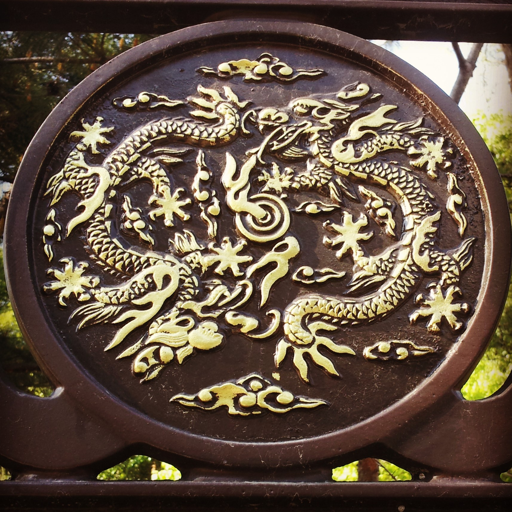 A dragon near the tomb