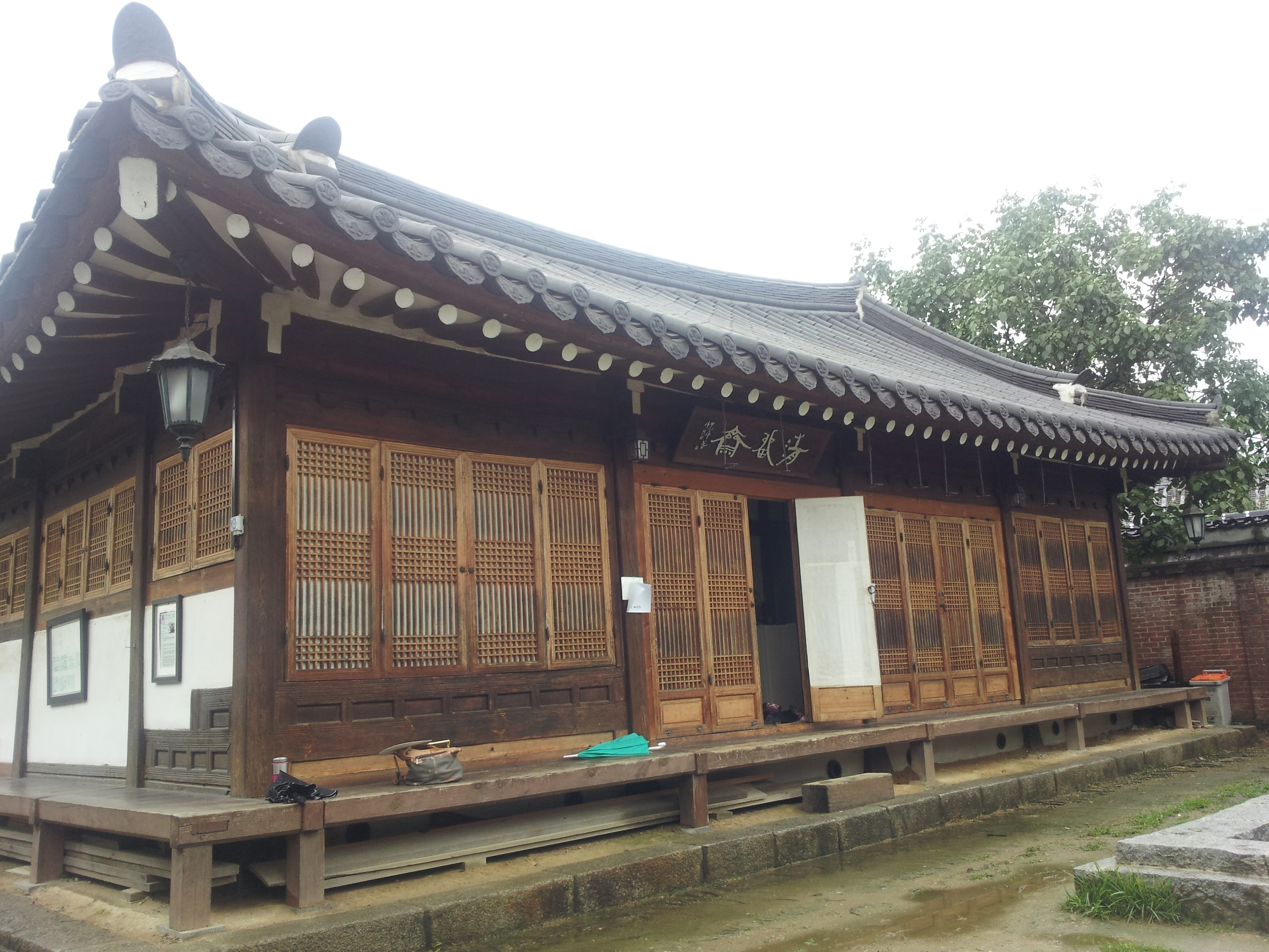 The Hanok I stayed in.
