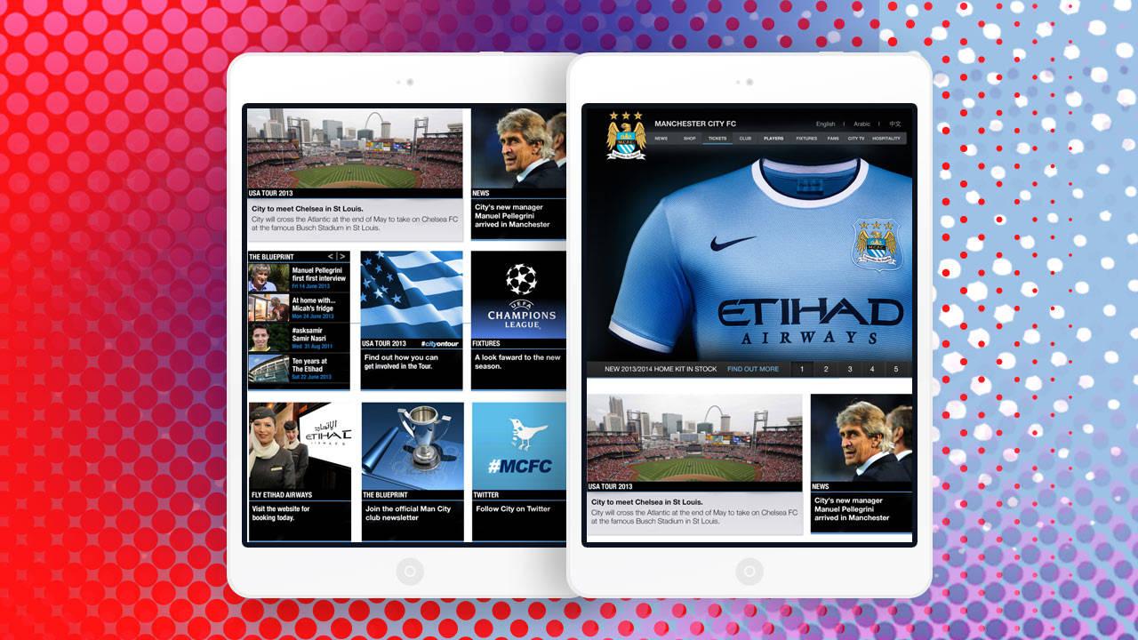 Man City Website Concept