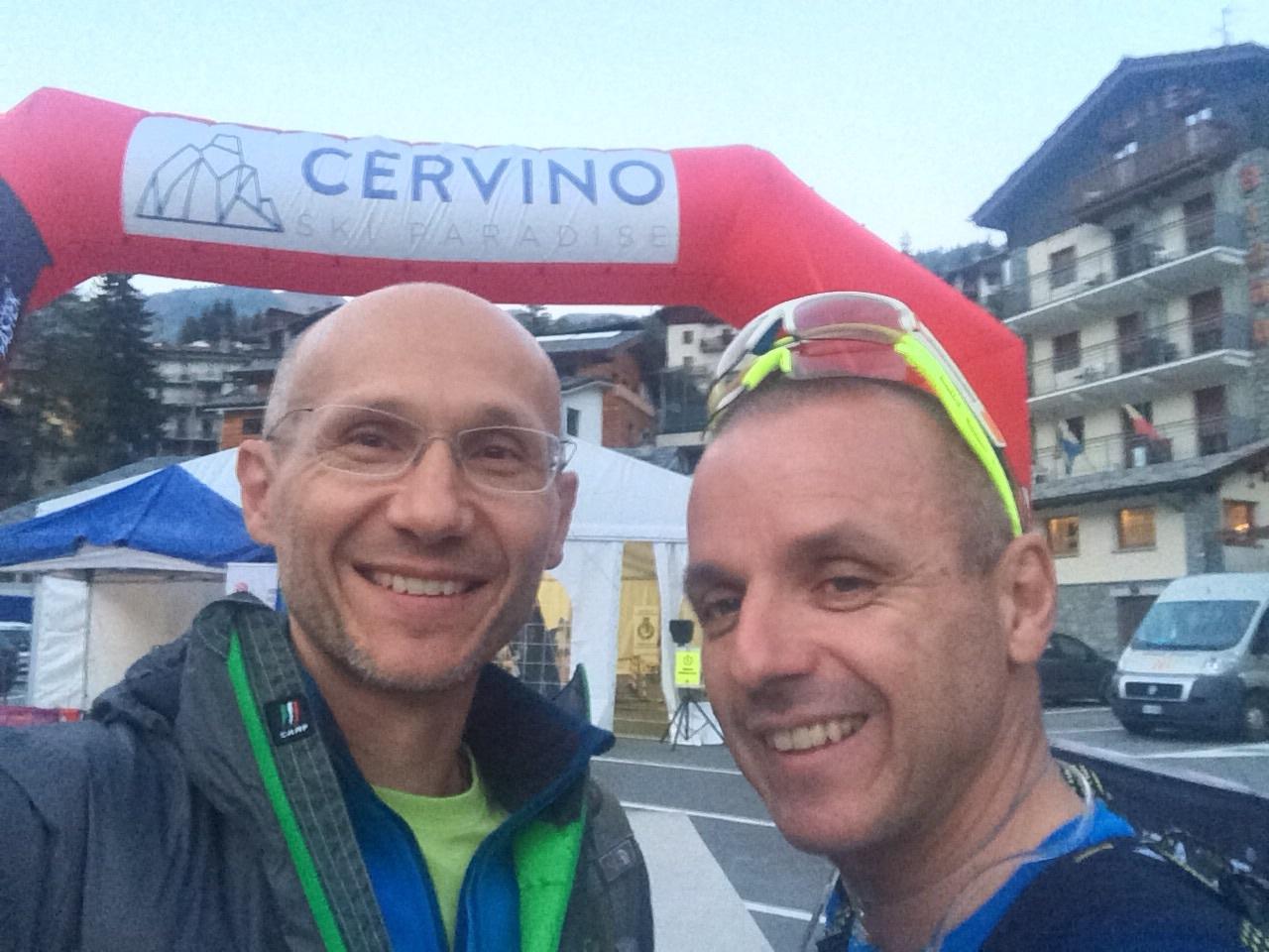 Dopo una giornata in Valle d'Ayas partiamo per il rifugio Magia.     Luca e Remigio Brunelli General Manager Tecnica Group China.