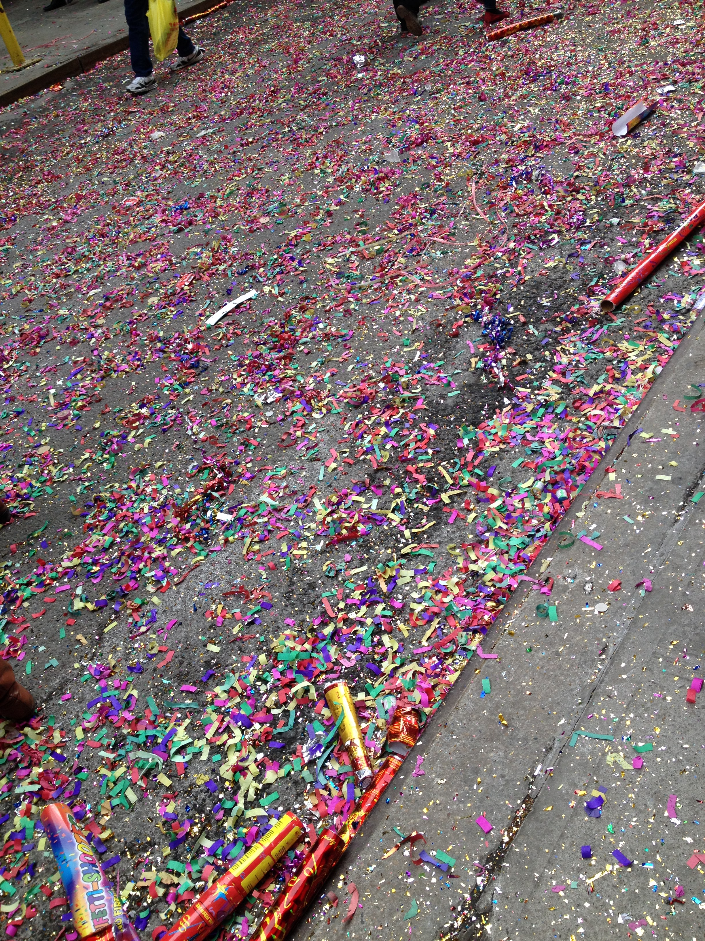 Chinese New Year Lion Dance aftermath