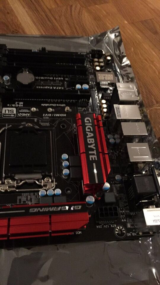 This motherboard was so shiny.