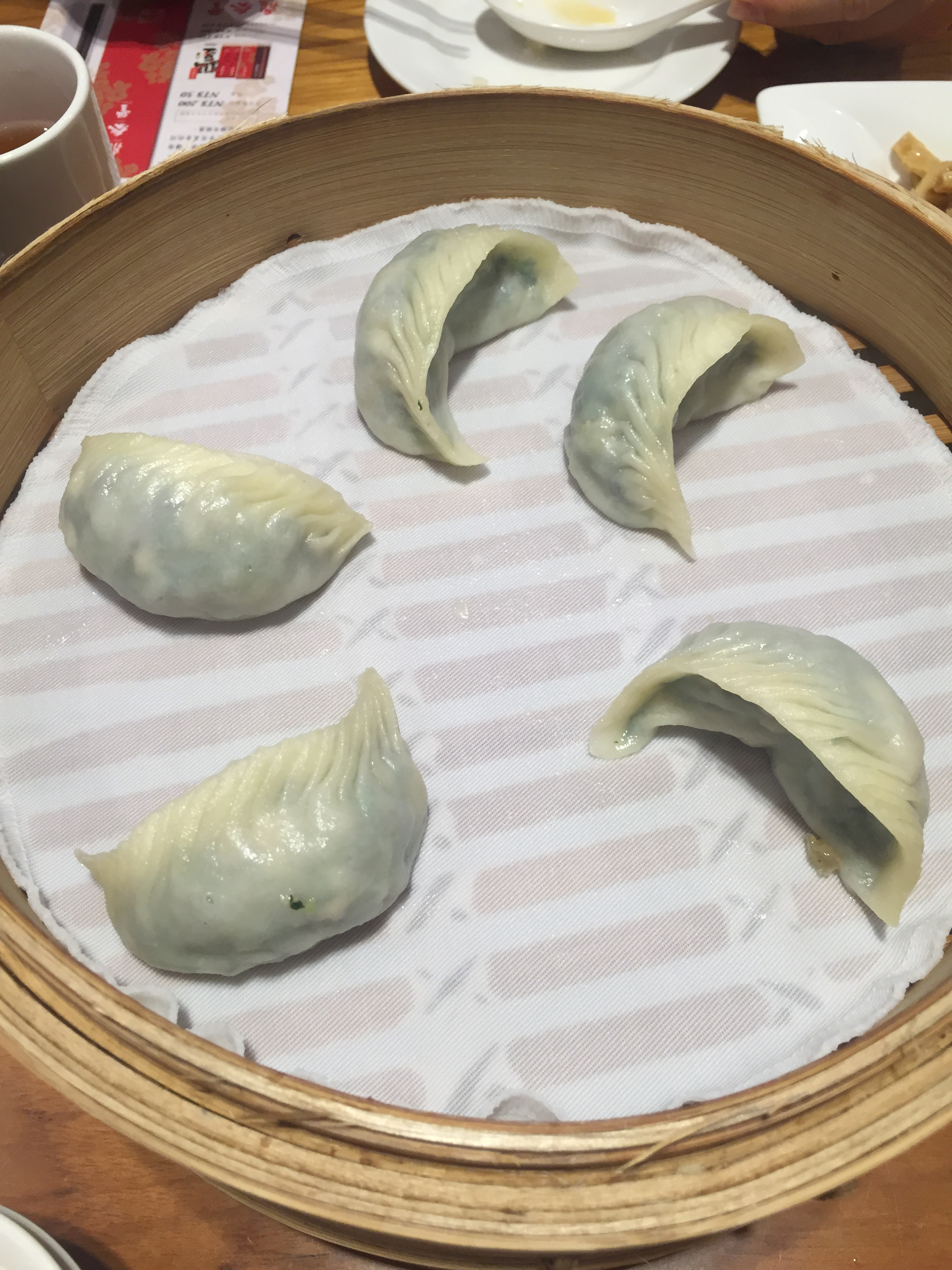 Veggie dumplings. The use of cloth in the steamers was a really nice touch over the usual paper found in most restaurants.