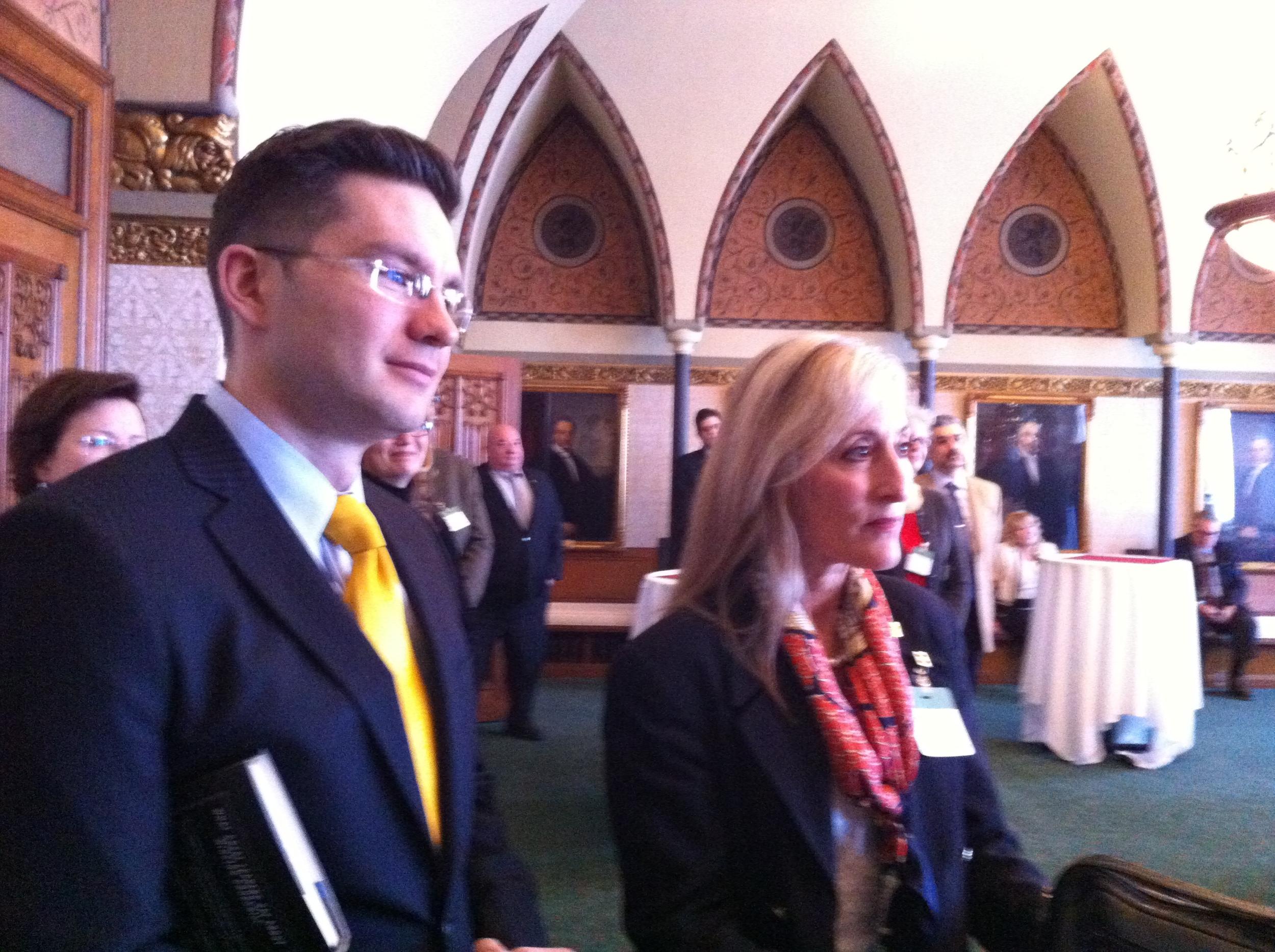 Minister Pierre Poilievre, M.P., and SWCSO member Floralove Katz
