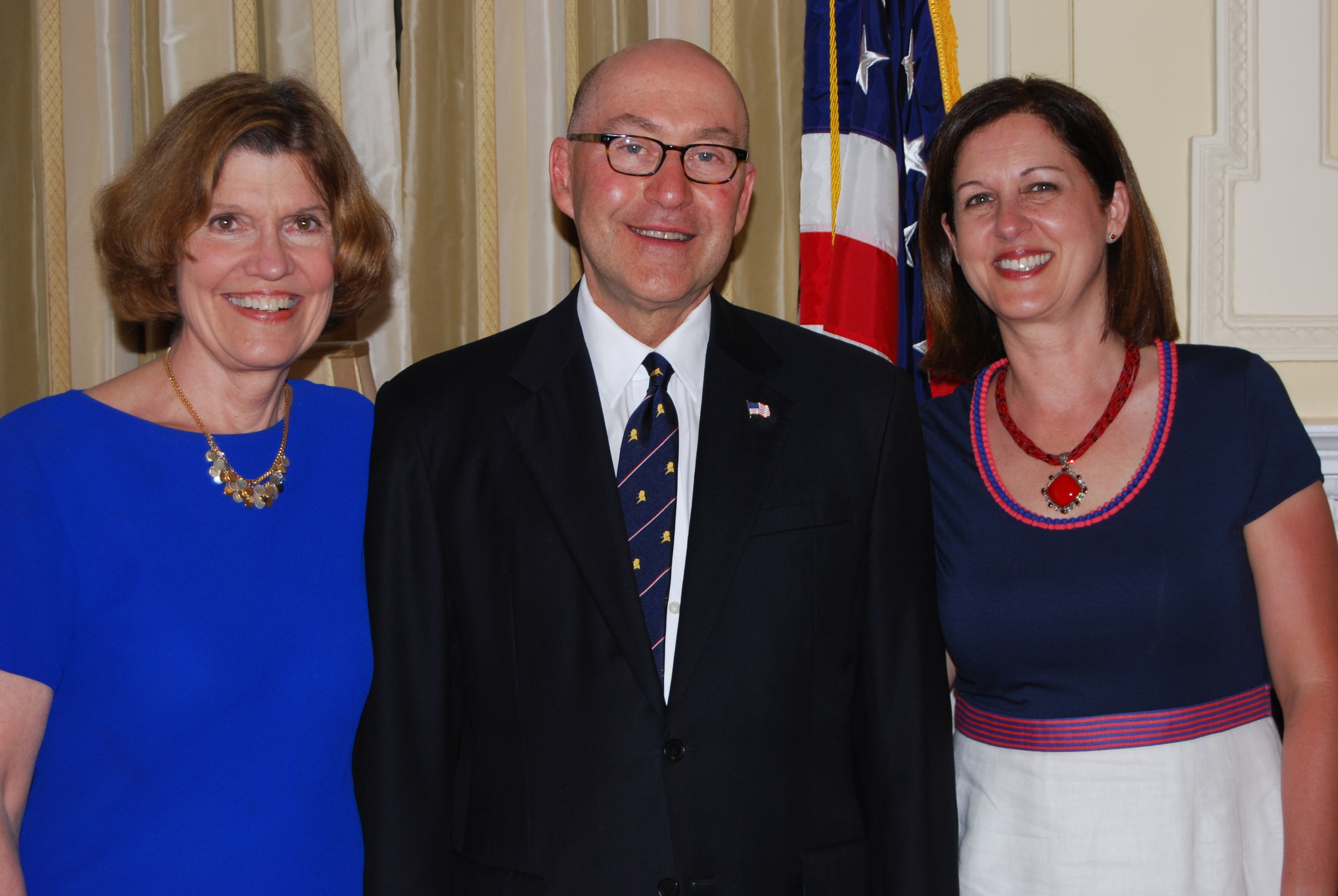 Lynne Olson with Ambassador David Jacobson and Mrs. Julie Jacobson - II