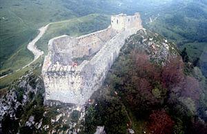 "Montségur Castle - ""A blessing for those who know the burning... for those who know the meaning in the flame."""