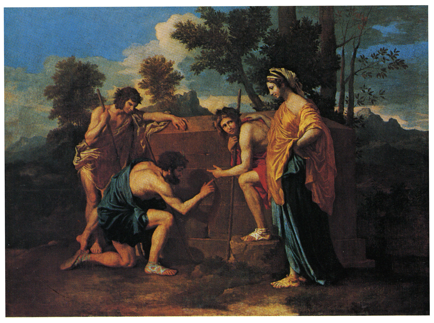 Et in Arcadia ego...  Hidden codes in Poussin's  Shepherds