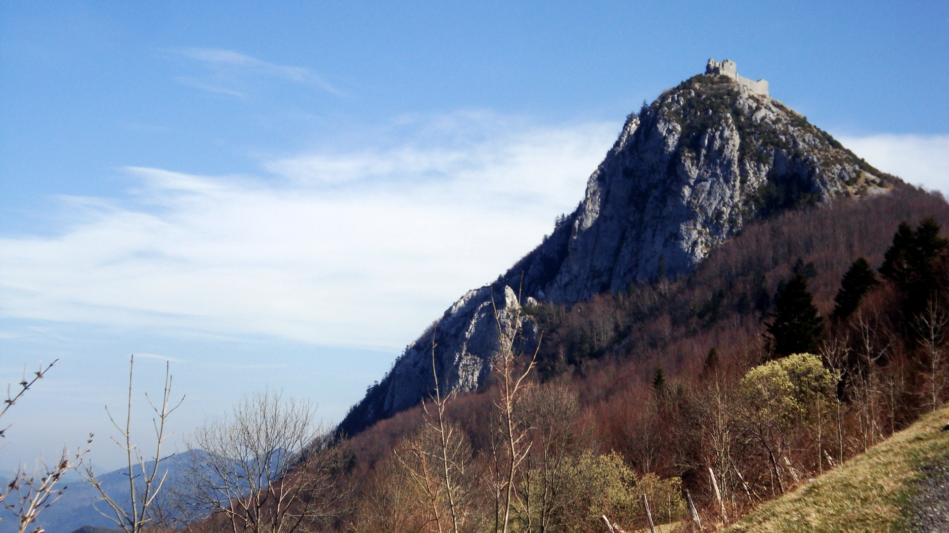 """Castle of Montségur - last """"stronghold"""" of the Cathars."""