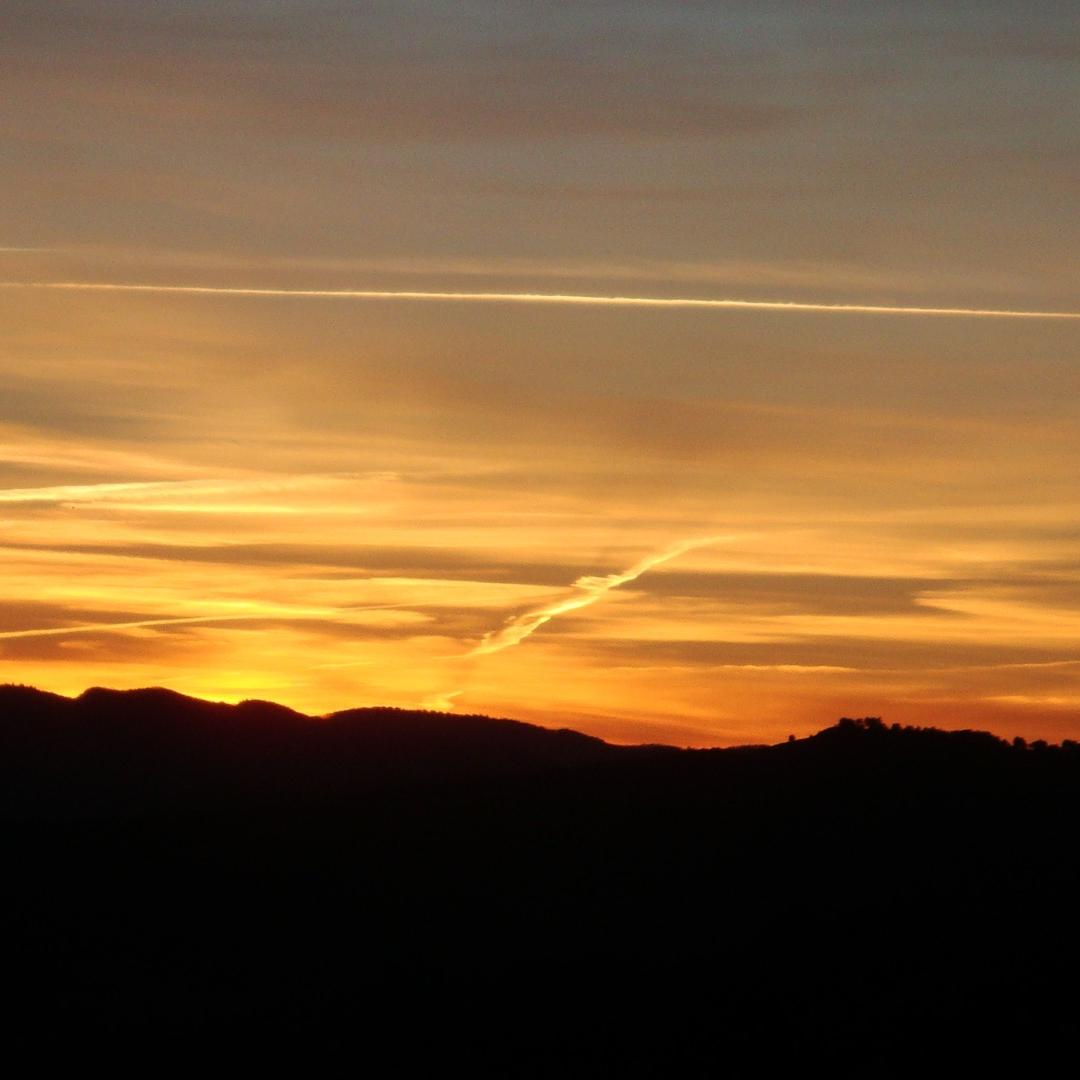 Sunset over Rennes-le-Château