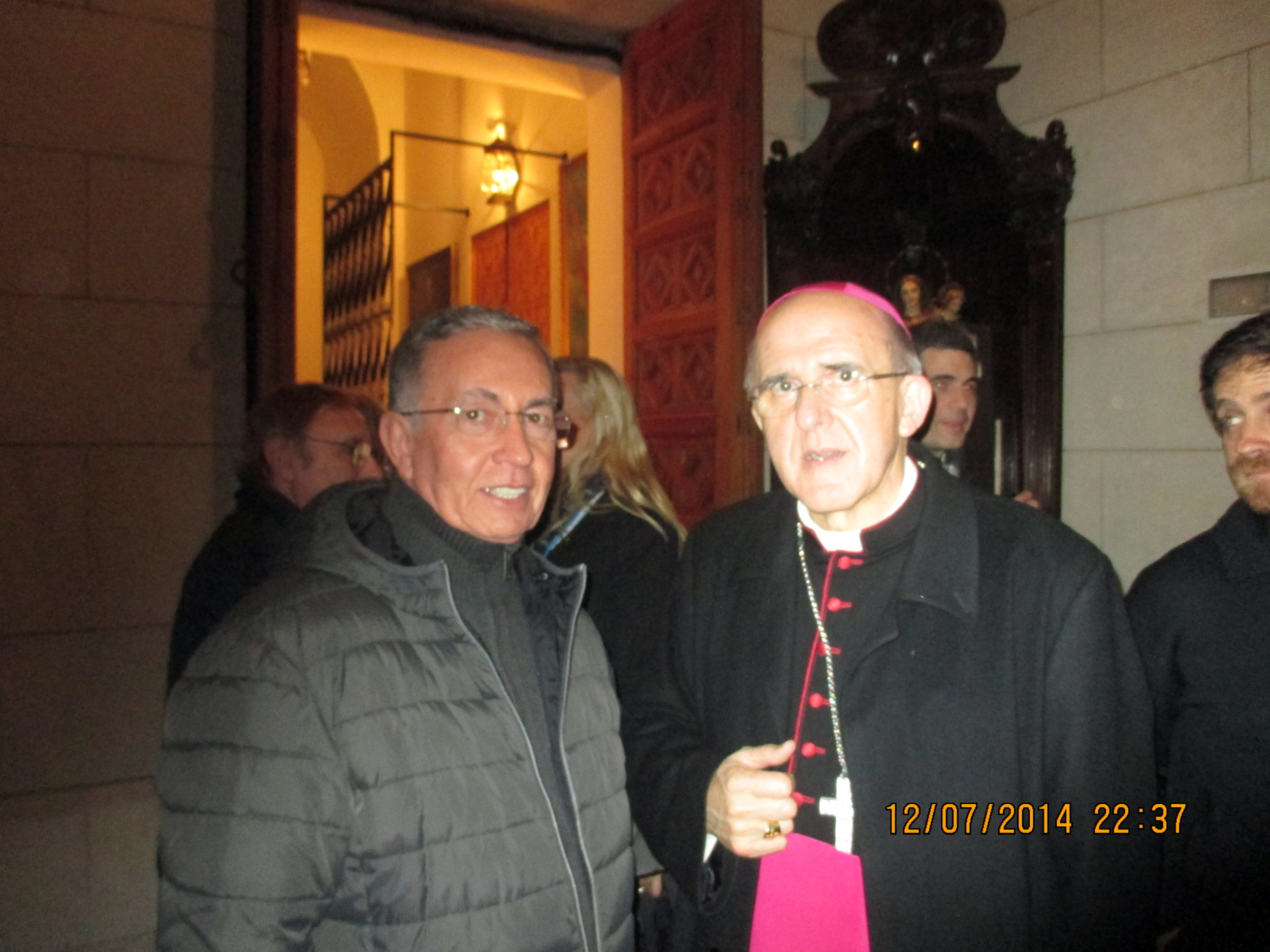 Monsenhor Albérico em Madri