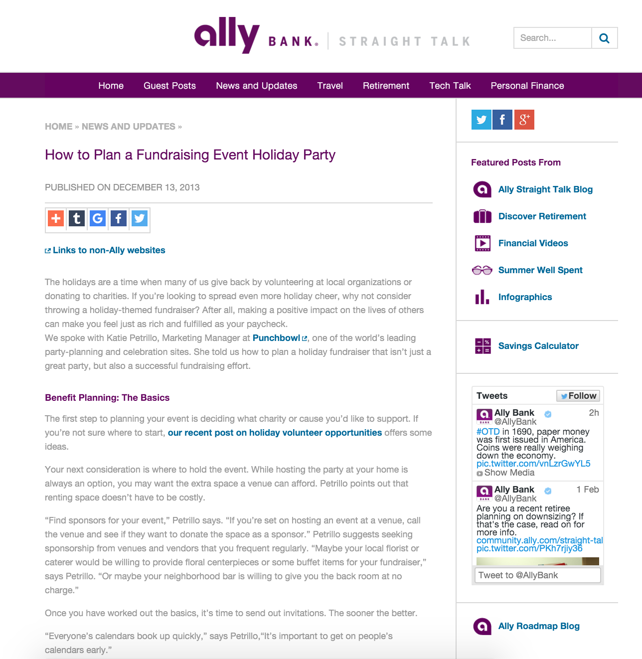 """""""How to Plan a Fundraising Event Holiday Party"""""""