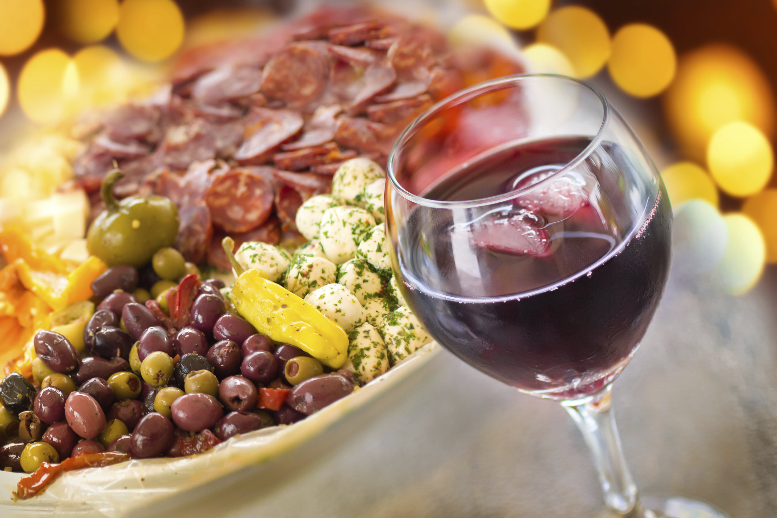 Wine, Cheese, Olives, Salami & Bread - that's the good life!