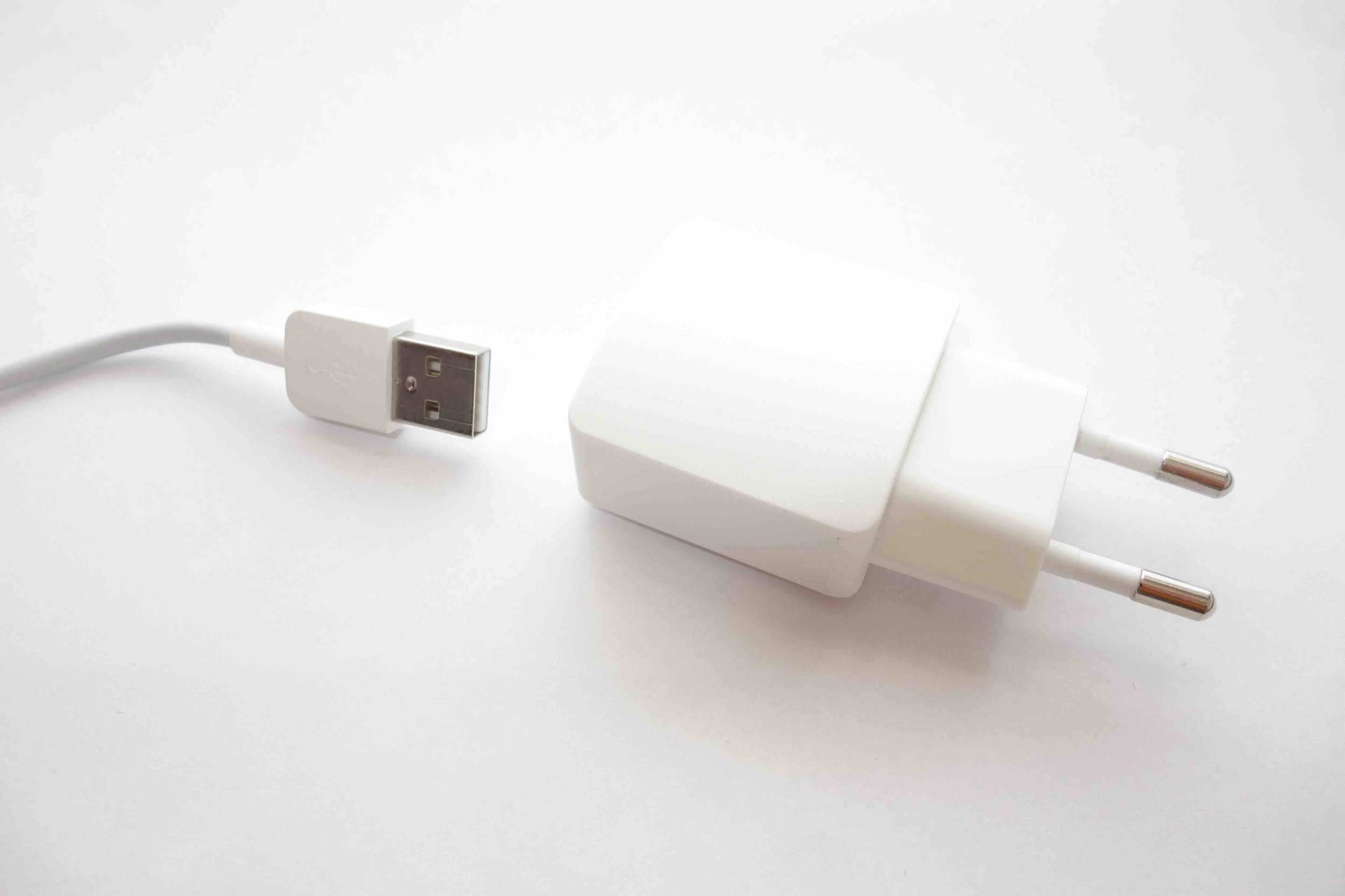 European 2 Prong Round USB adapter