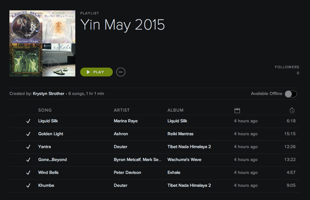 Click image to listen. Playlist located on Spotify.