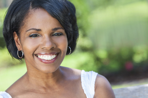woman smiling white teeth