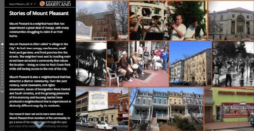 Story Map for Mount Pleasant Neighborhood in Washington, DC.