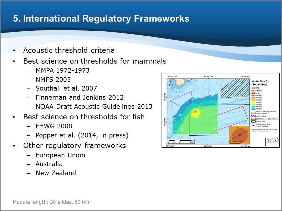 Bioacoustics Training Course: International Regulatory Frameworks
