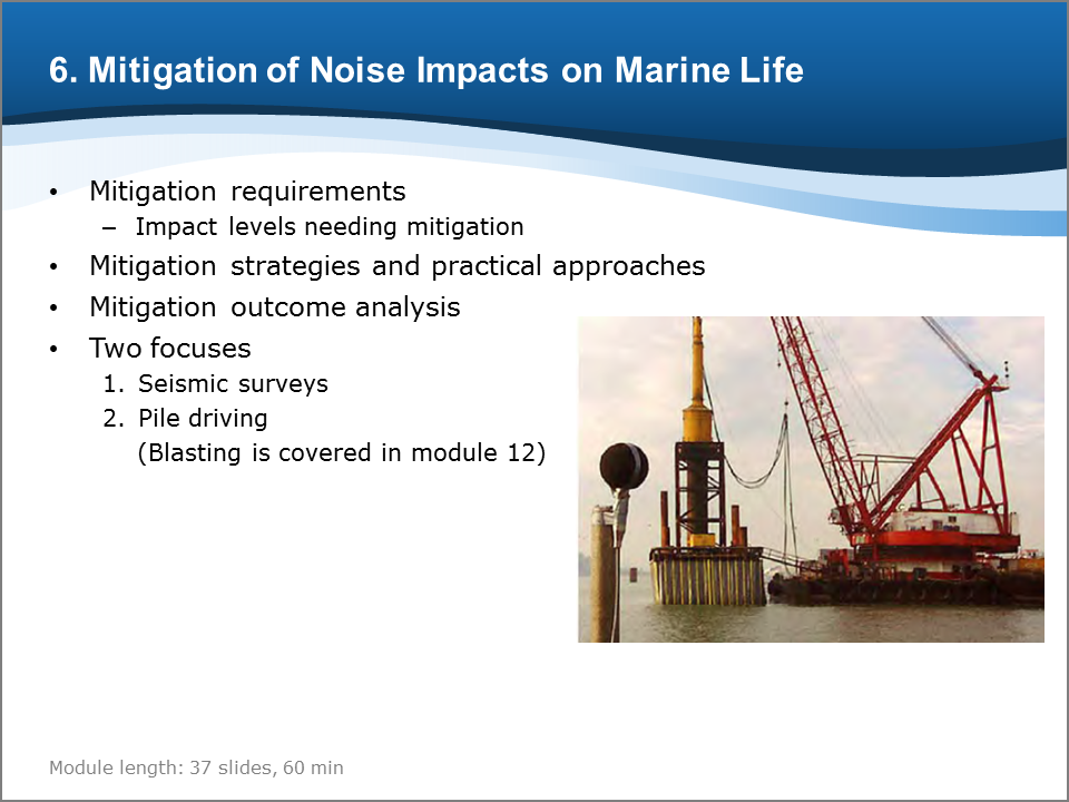 Bioacoustics Training Course: Mitigation of Noise Impacts on Marine Life