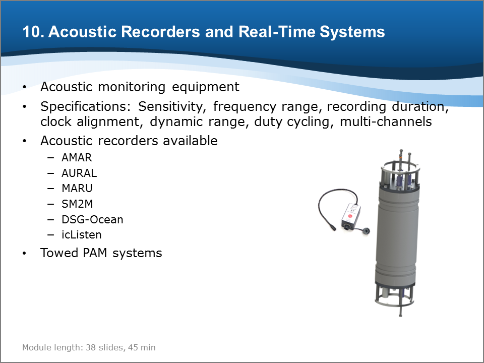 Bioacoustics Training Course: Acoustic Recorders and Real-Time Systems