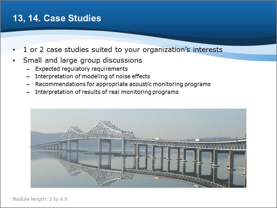 Bioacoustics Training Course: Case Studies