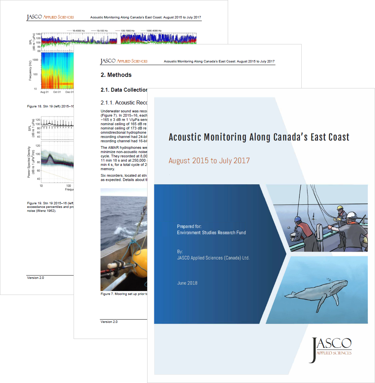 Acoustic Monitoring Along Canada's East Coast: August 2015 to July 2017 (PDF, 19 MB) - Julien Delarue, Katie Kowarski, Emily Maxner, Jeff MacDonnell, Bruce MartinEnvironmental Studies Research Fund Report Number 215 (2018)