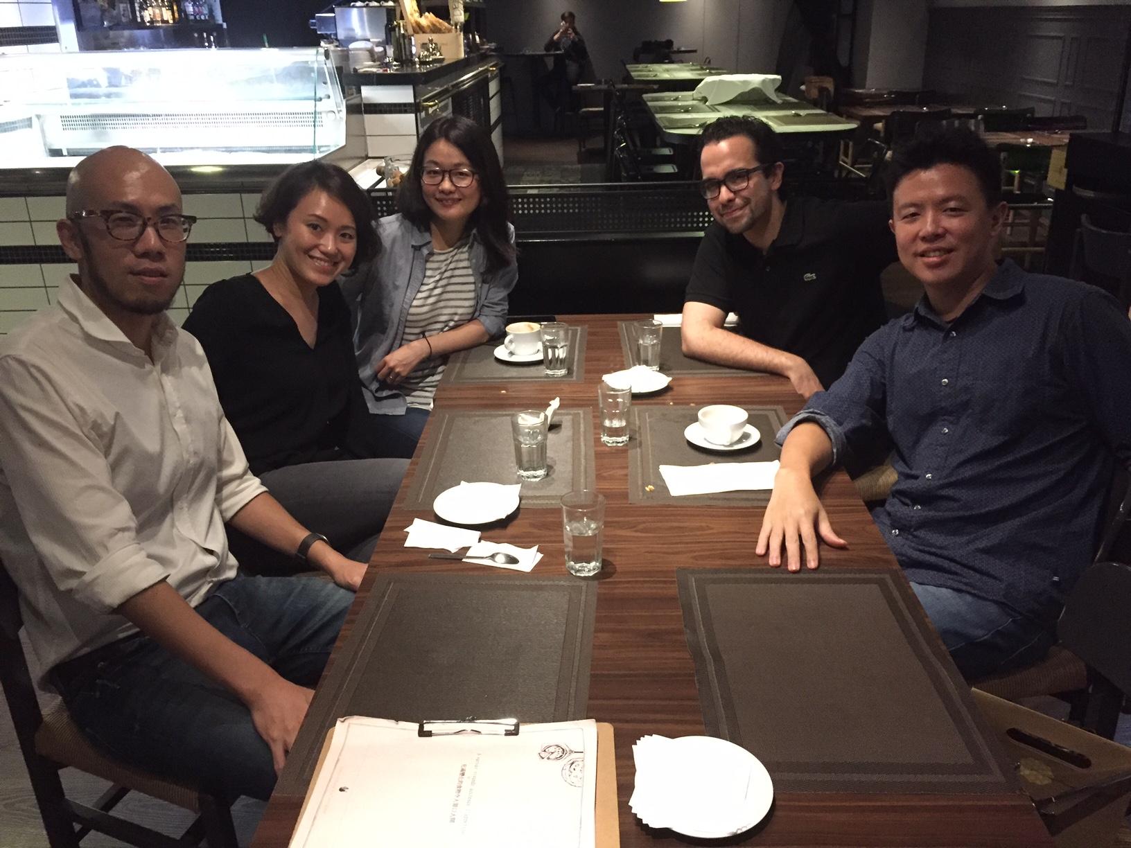 From Left to Right: Tenniel Liu, Tina Wu, Diane Shin,  Alisan Atvur  , and   Mike Wu  .