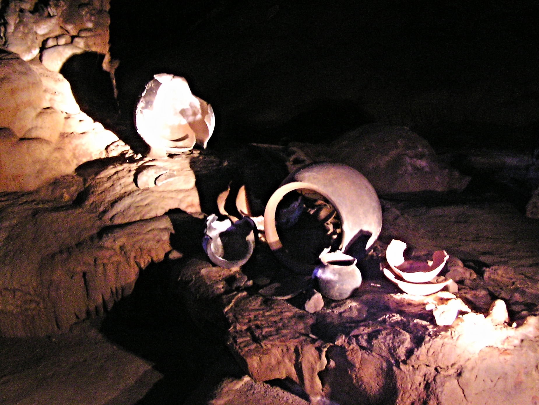 Maya Pots - Actun Tunichil Muknal - ATM Cave - Belize Vacation Packages - Cayo District Adventures - SabreWing Travel