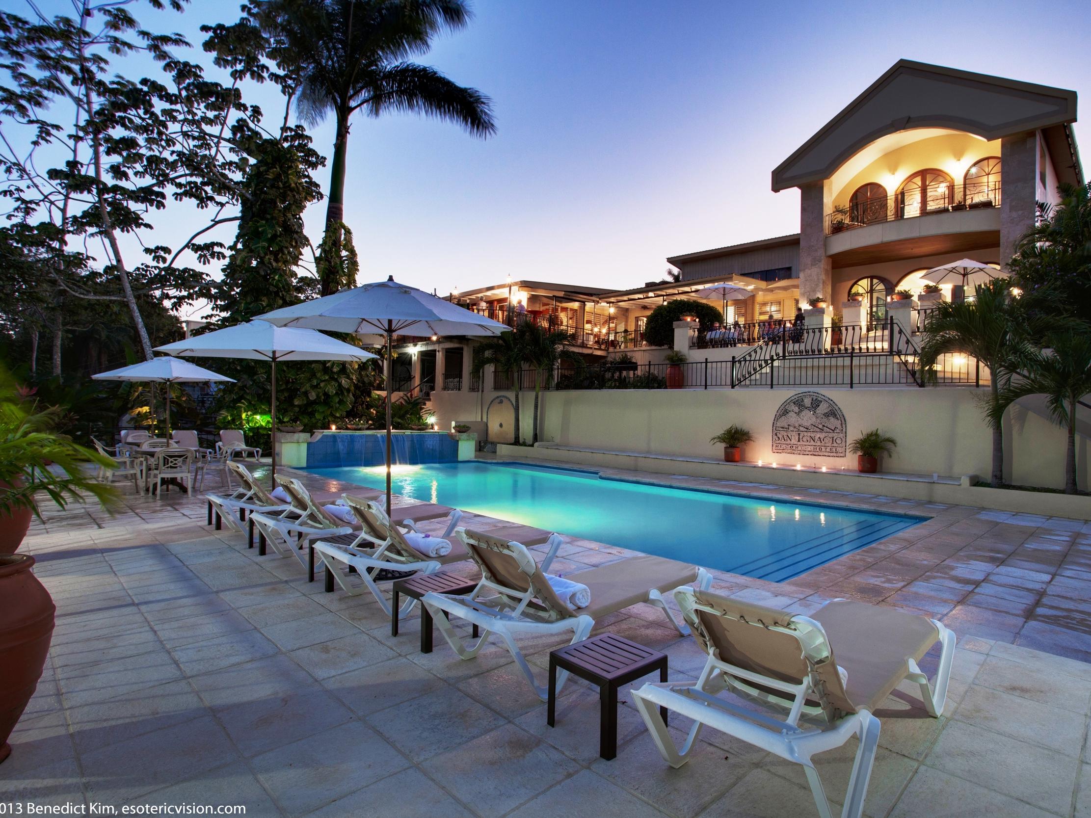 The pool at the San Ignacio Resort Hotel