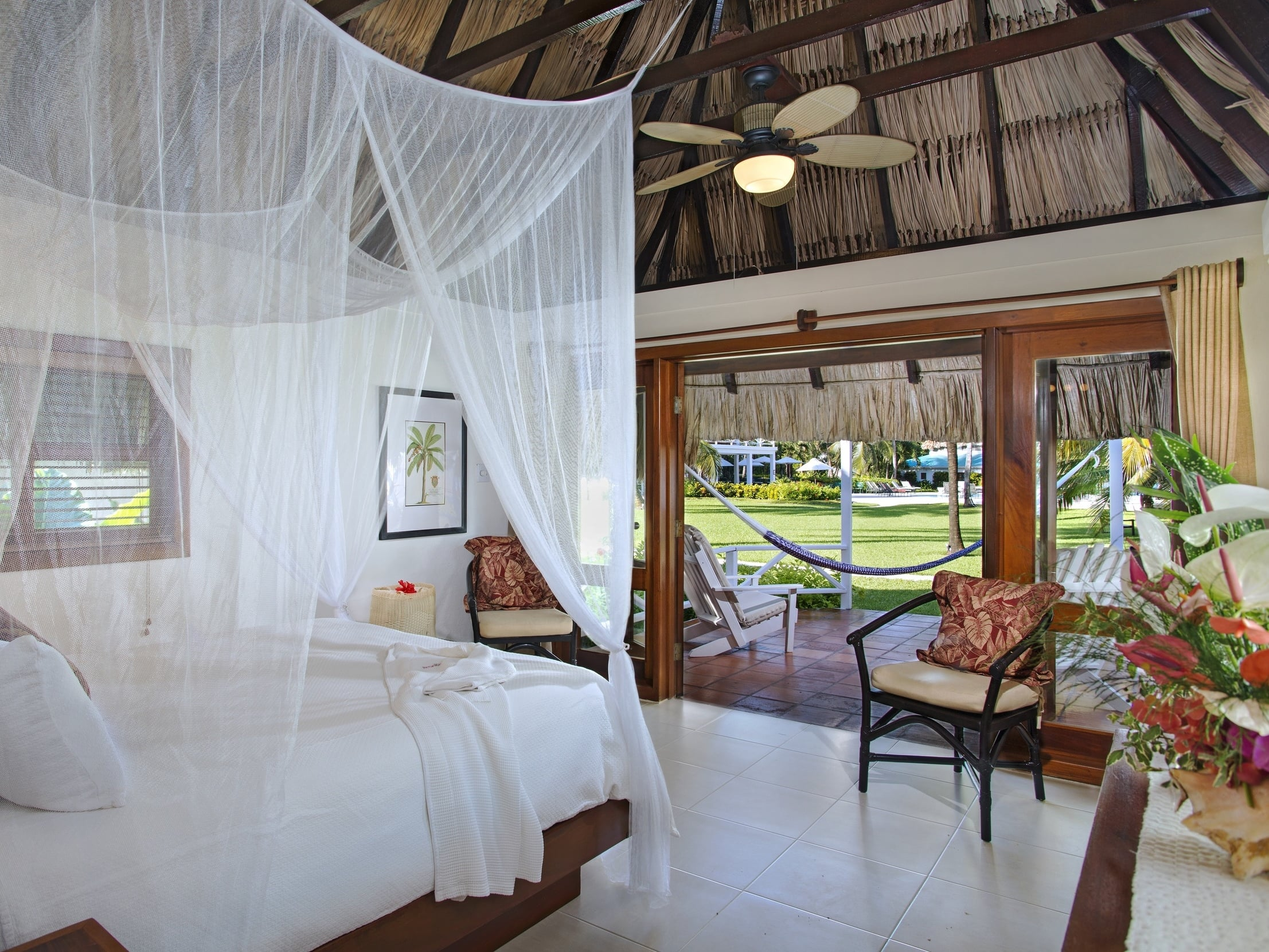 The private casitas at the Victoria House, Ambergris Caye, Belize