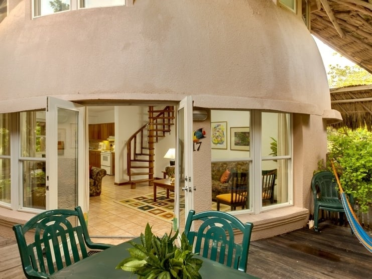 The domed rooms at Xanadu Island Resort, San Pedro, Ambergris Caye, Belize