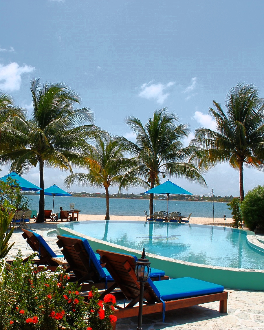 The Chabil Mar Villas overlooking the Placencia beach