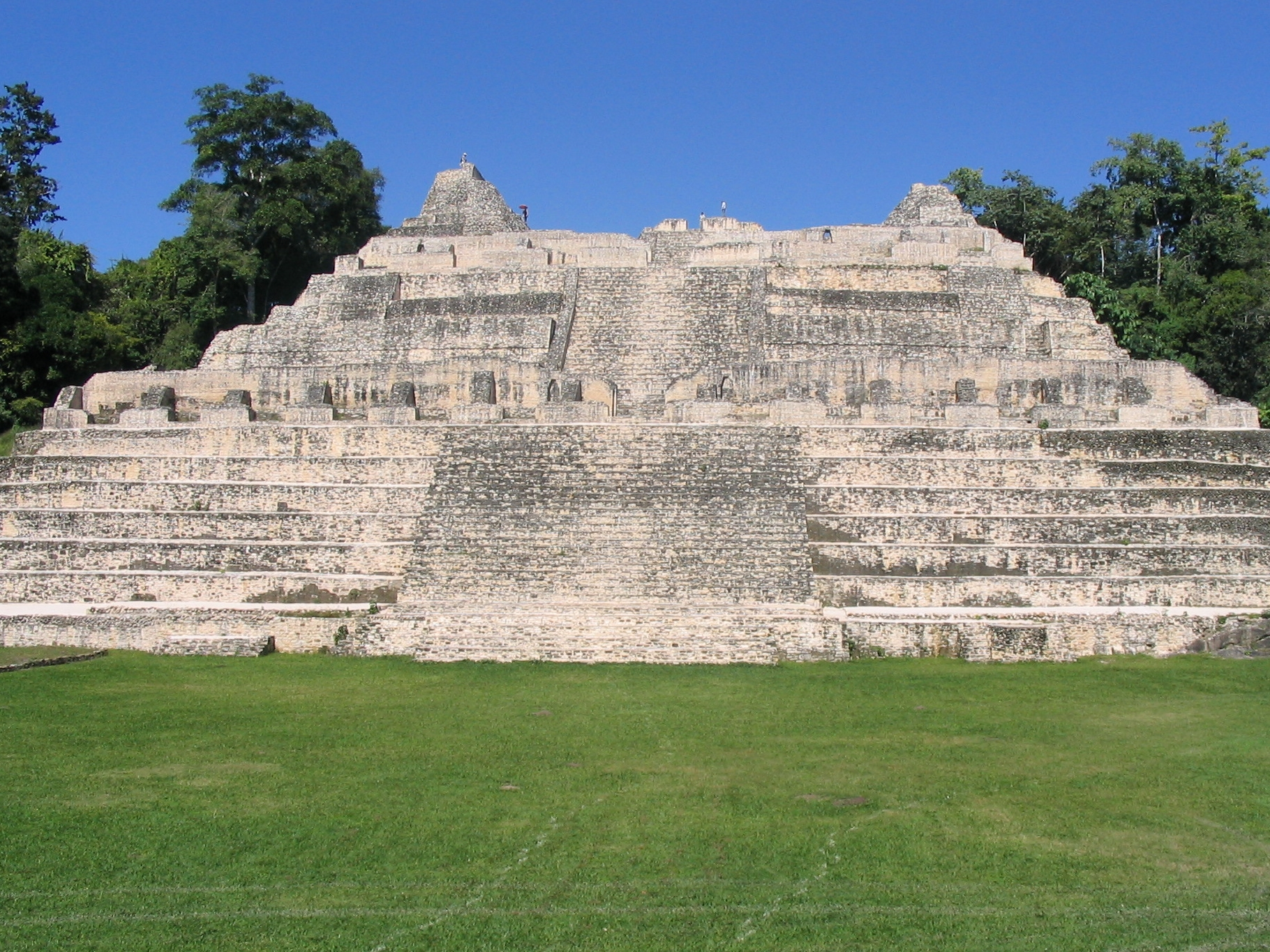 The Ka'ana Temple at the Caracol Maya site towers above the forest