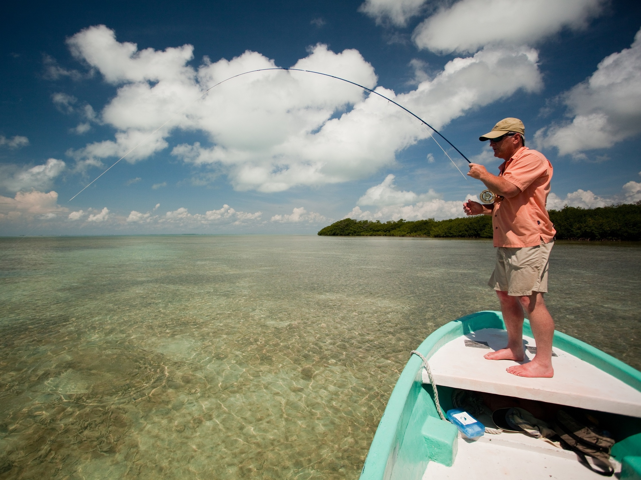 The reef and lagoons that lie between it and Ambergris offer an assortment of fishing opportunities
