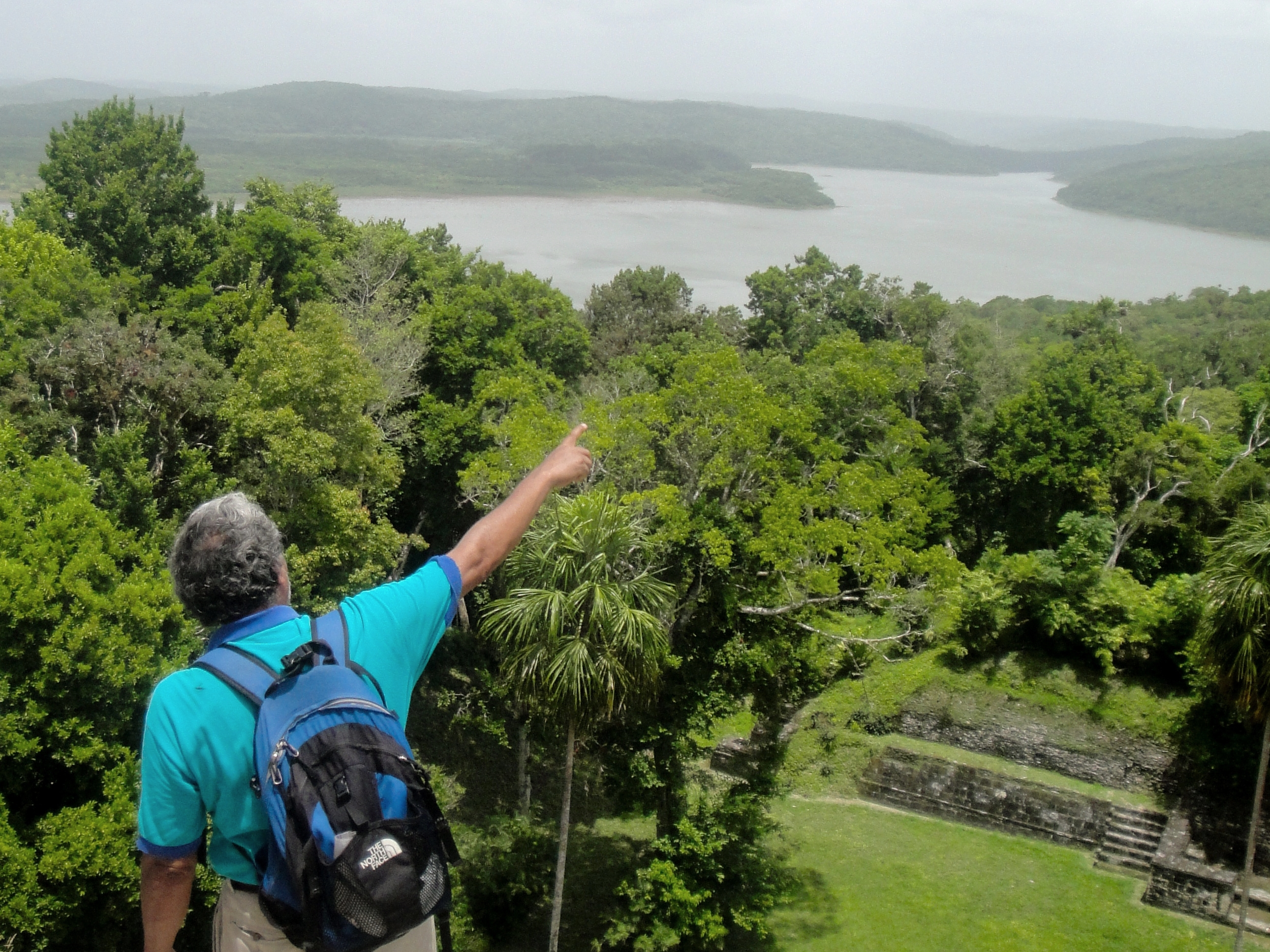 An archaeology guide discusses the layout of the Yaxha Maya Site