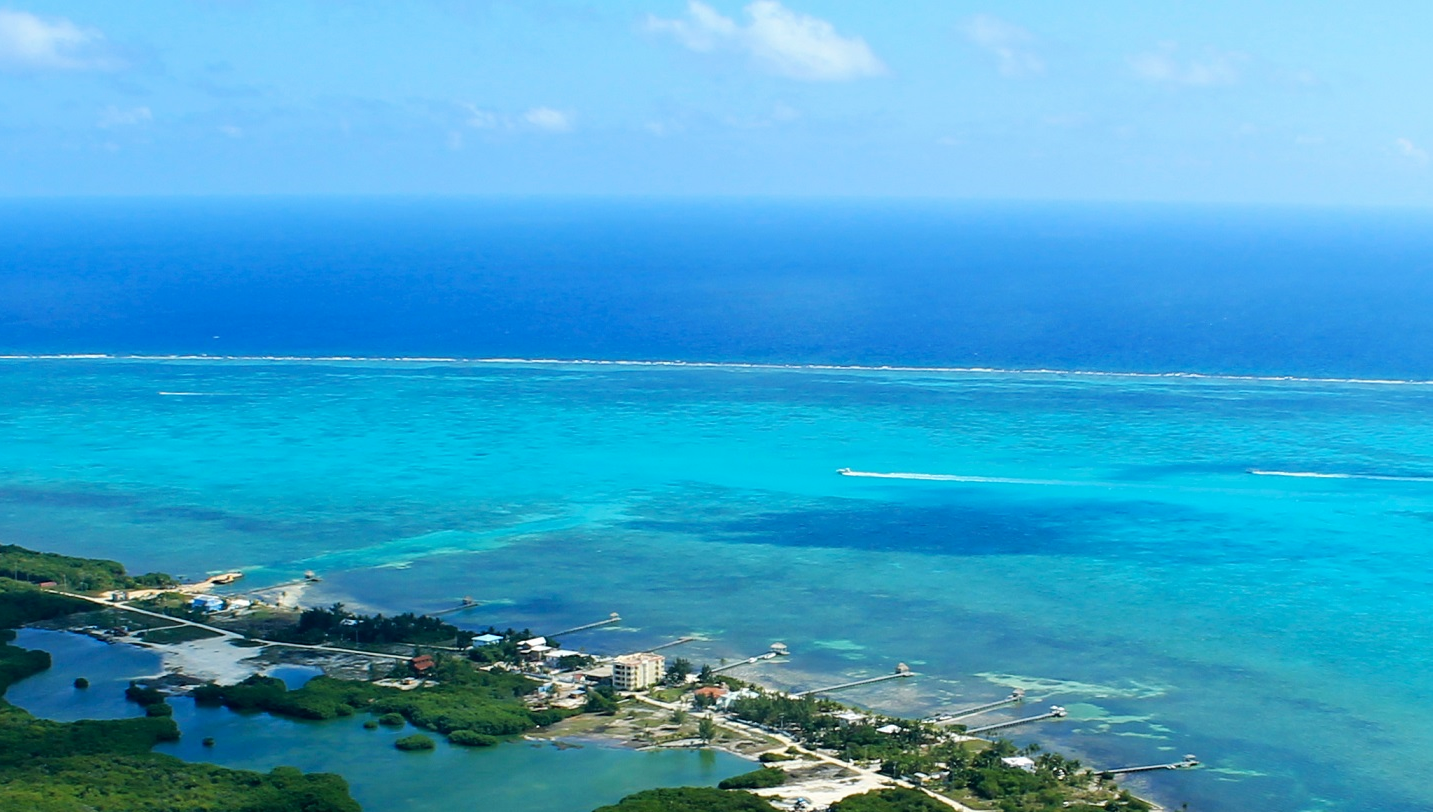 The view of the Belize Barrier Reef and the islands on the short flight from the mainland to Ambergris Caye provides reason enough to want to travel there via airplane.