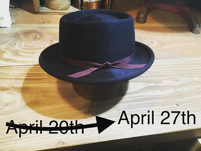I'm switching the Saturday we will be open last minute on you! I've got family in the hospital I need to be with. Open the 27th, Closed the 20th. Thank you all for understanding. Hat is a Black Open Crown Telescope, size 7. Color combo makes my eyes happy. For Sale.