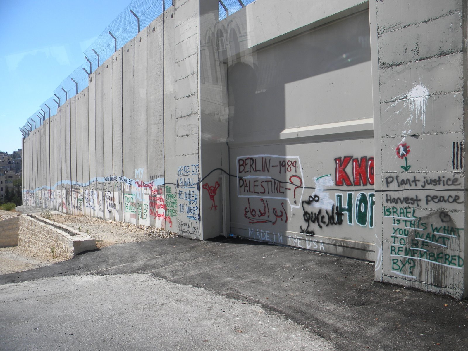 The security wall en route to the Dead Sea, 2009.