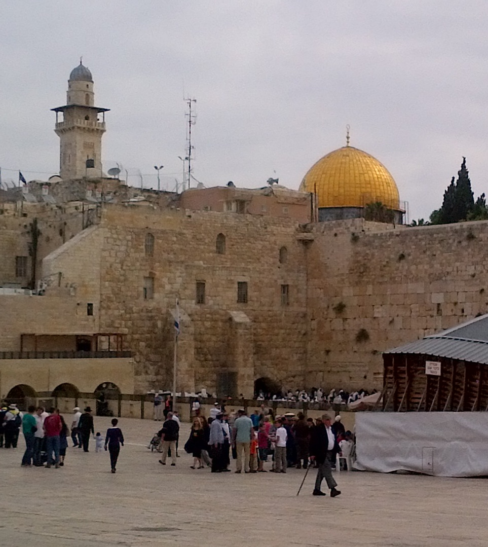 The Western or Wailing Wall of the Temple in Jerusalem, 2013.