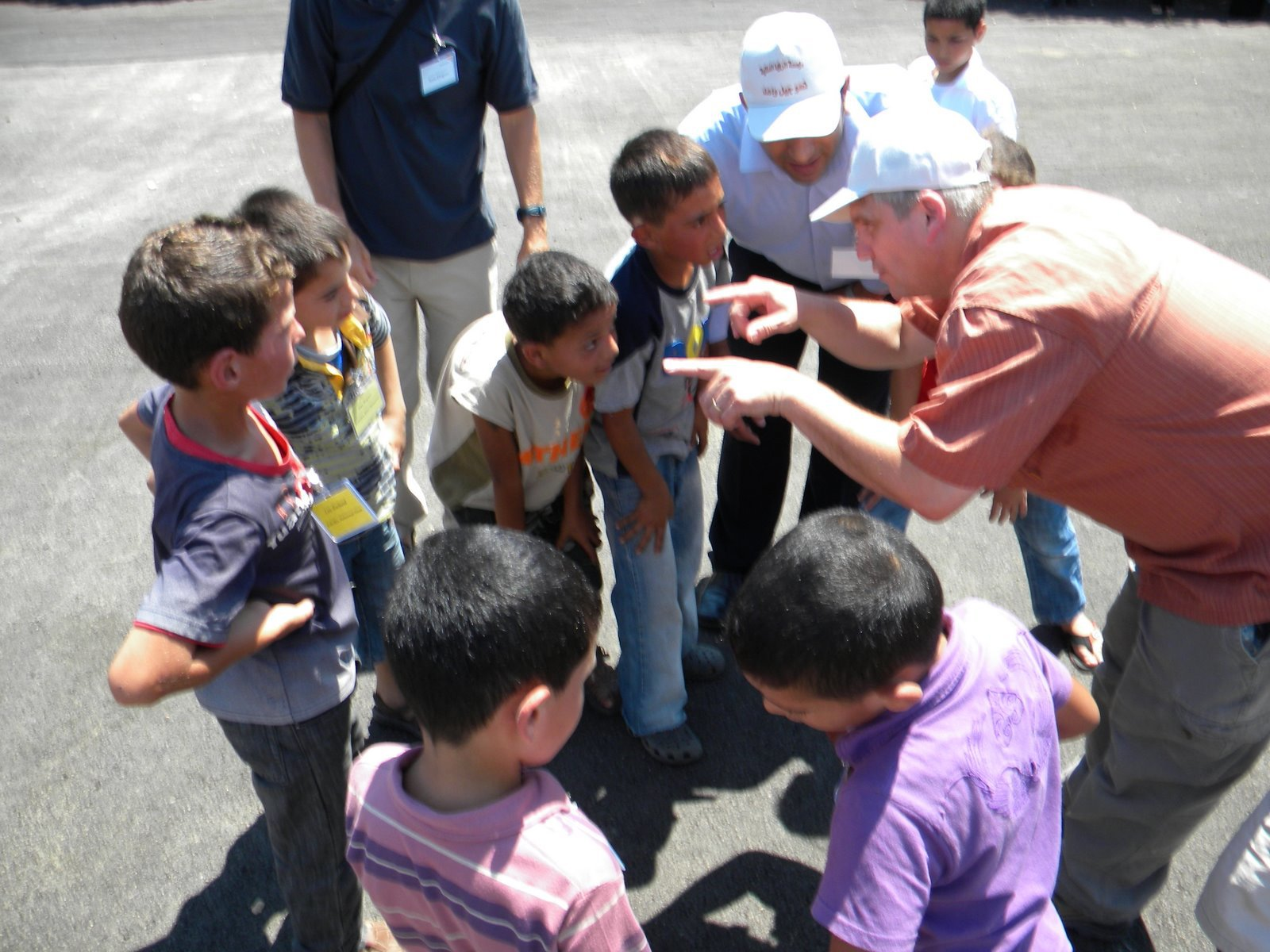 """Jeff Anderson trying to organize the first ever football (as in pigskin not """"soccer"""") in the West Bank."""