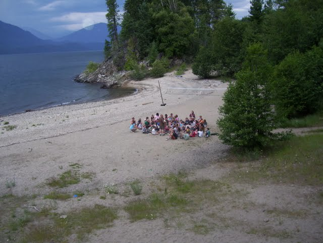 On the beach, Kootney Covenant Bible Camp, BC.