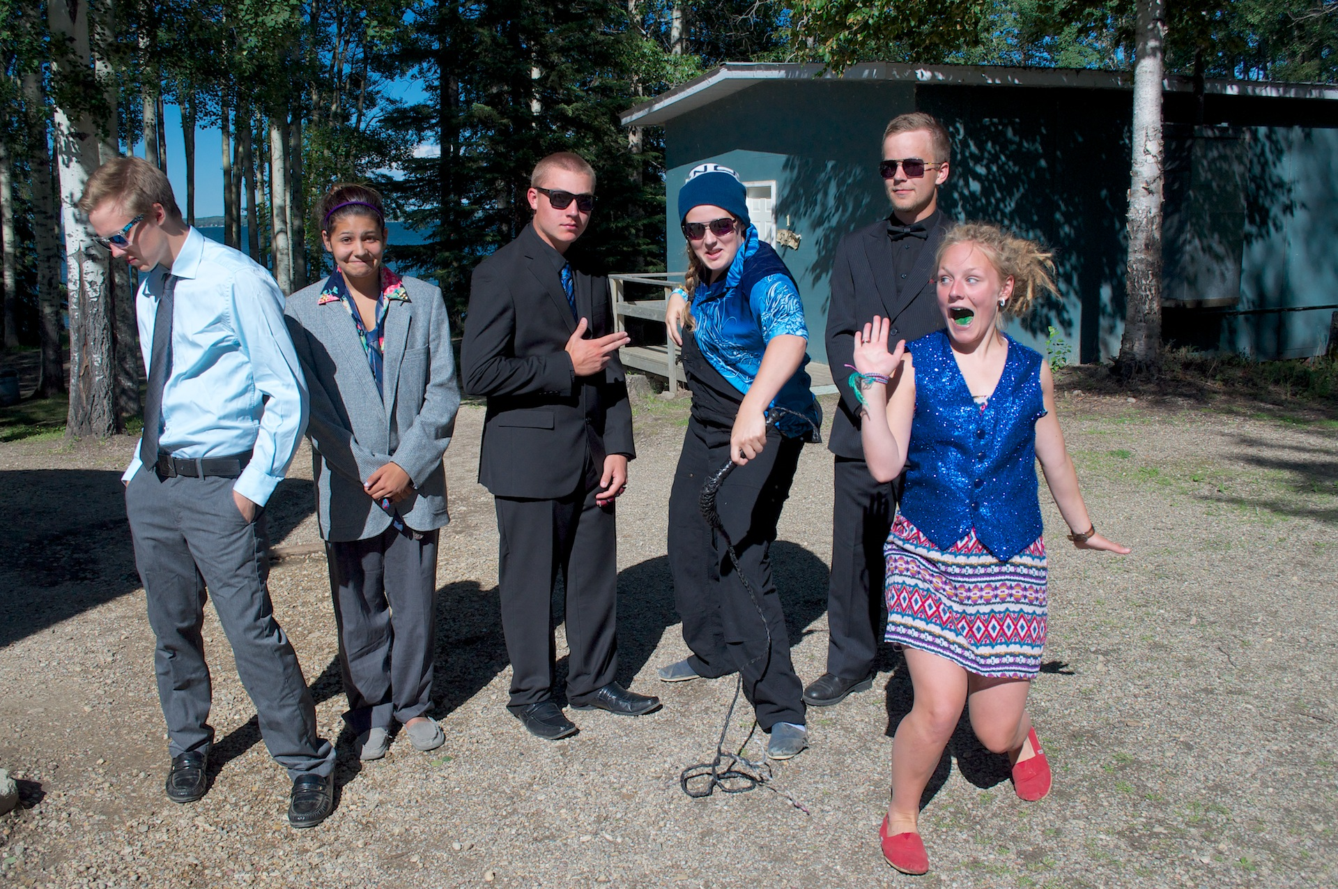 Sr. High Dress Up Night, Covenant Bay Bible Camp, Alberta.