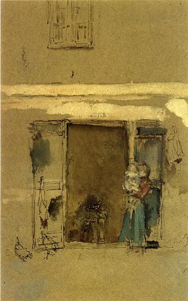 Whistler, James McNeill.  The Open Door . 1901. WikiPaintings. Web. 19 January 2016. <www.wikipaintings.org>. This artwork is in the public domain.