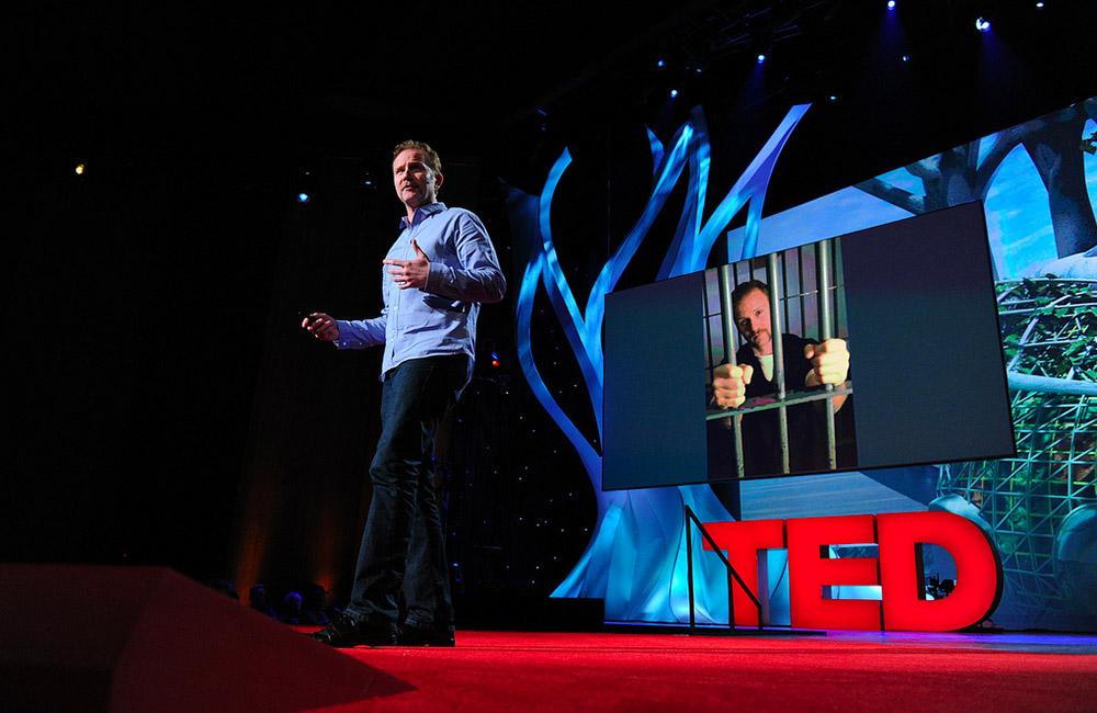Morgan Spurlock, Filmmaker at TED2011, in Long Beach, California. Credit: James Duncan Davidson / TED