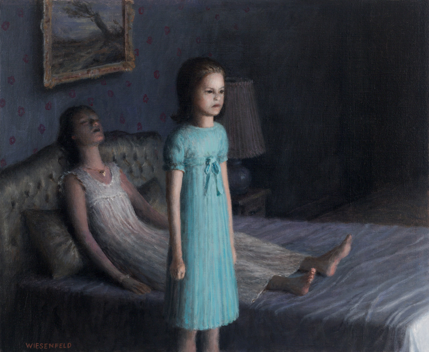 Guest, oil on canvas, 15 x 18.5 in / 38 x 47 cm, 2010