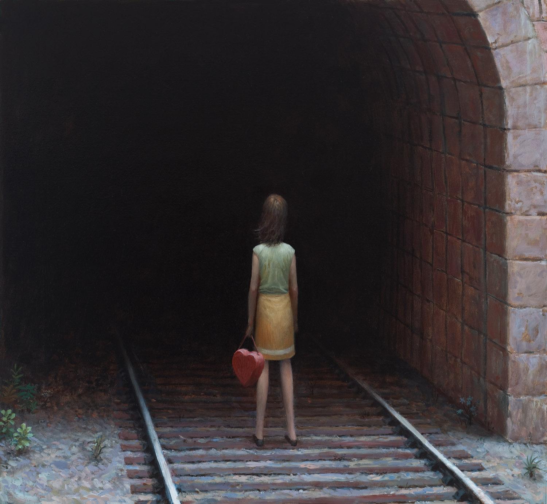 Train Tunnel , oil on canvas, 30 x 32 in / 76 x 81 cm, 2009