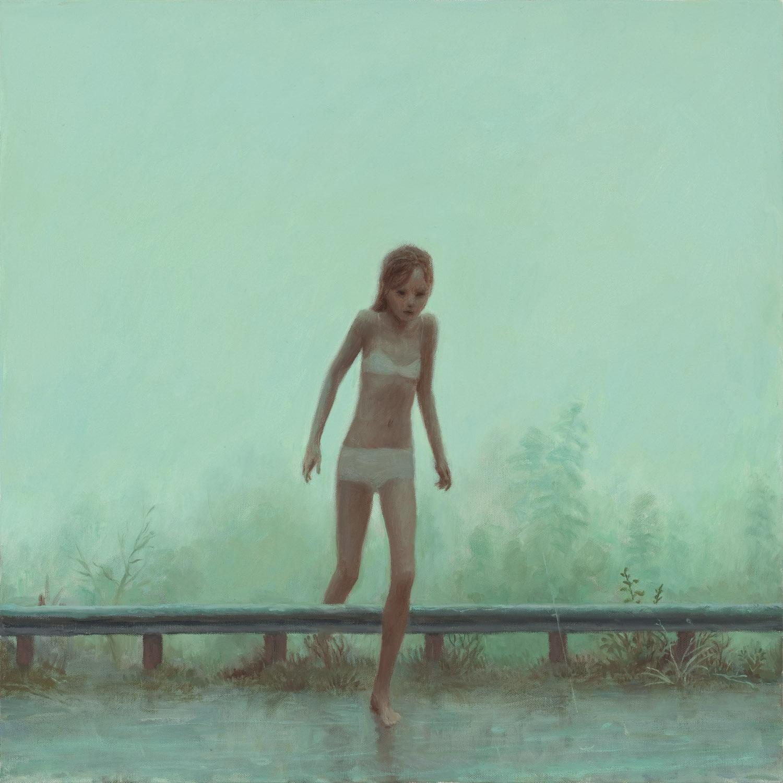 Flood , oil on canvas, 24 x 24 in / 61 x 61 cm, 2009