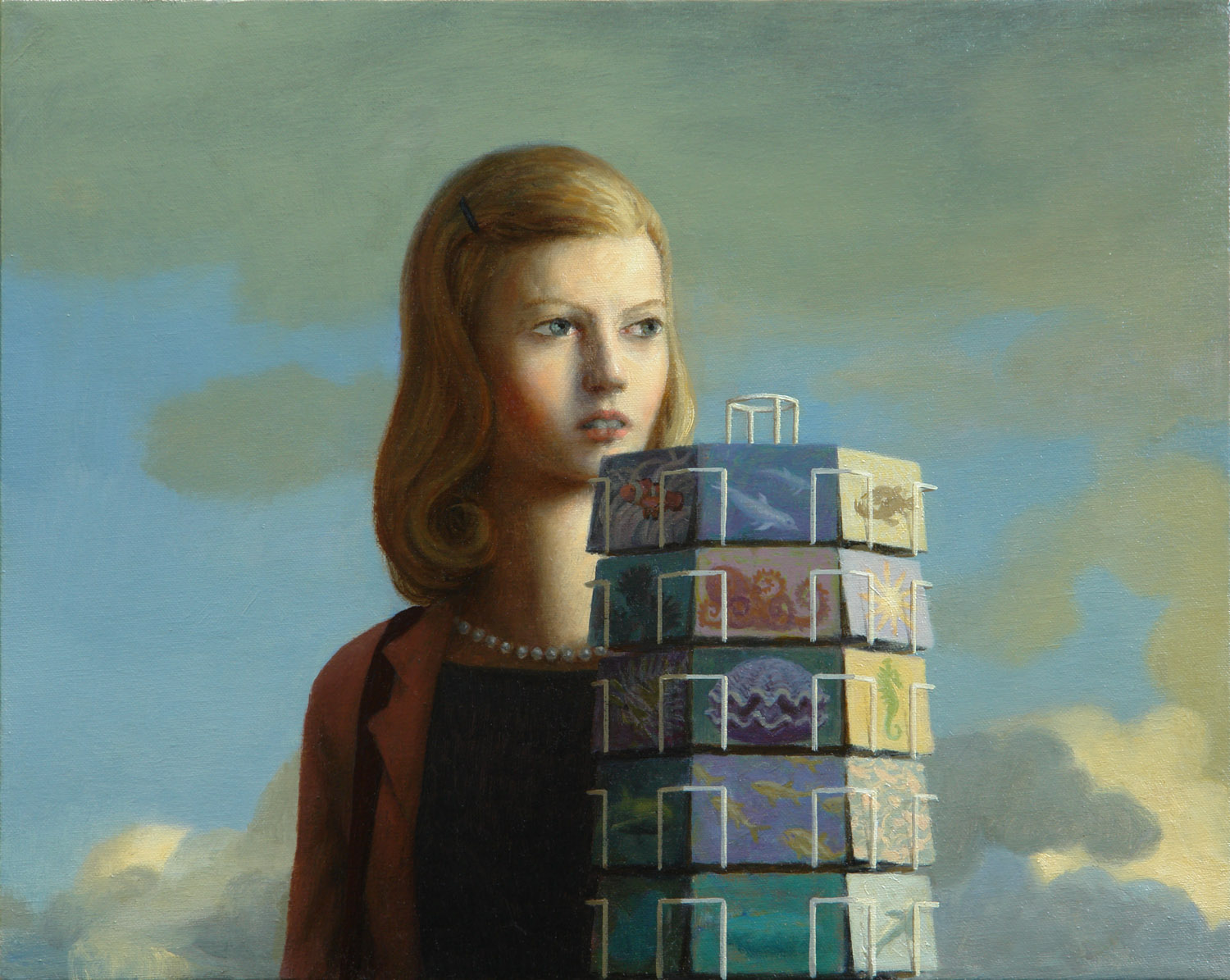 Postcards , oil on canvas, 16 x 20 in / 41 x 51 cm, 2009