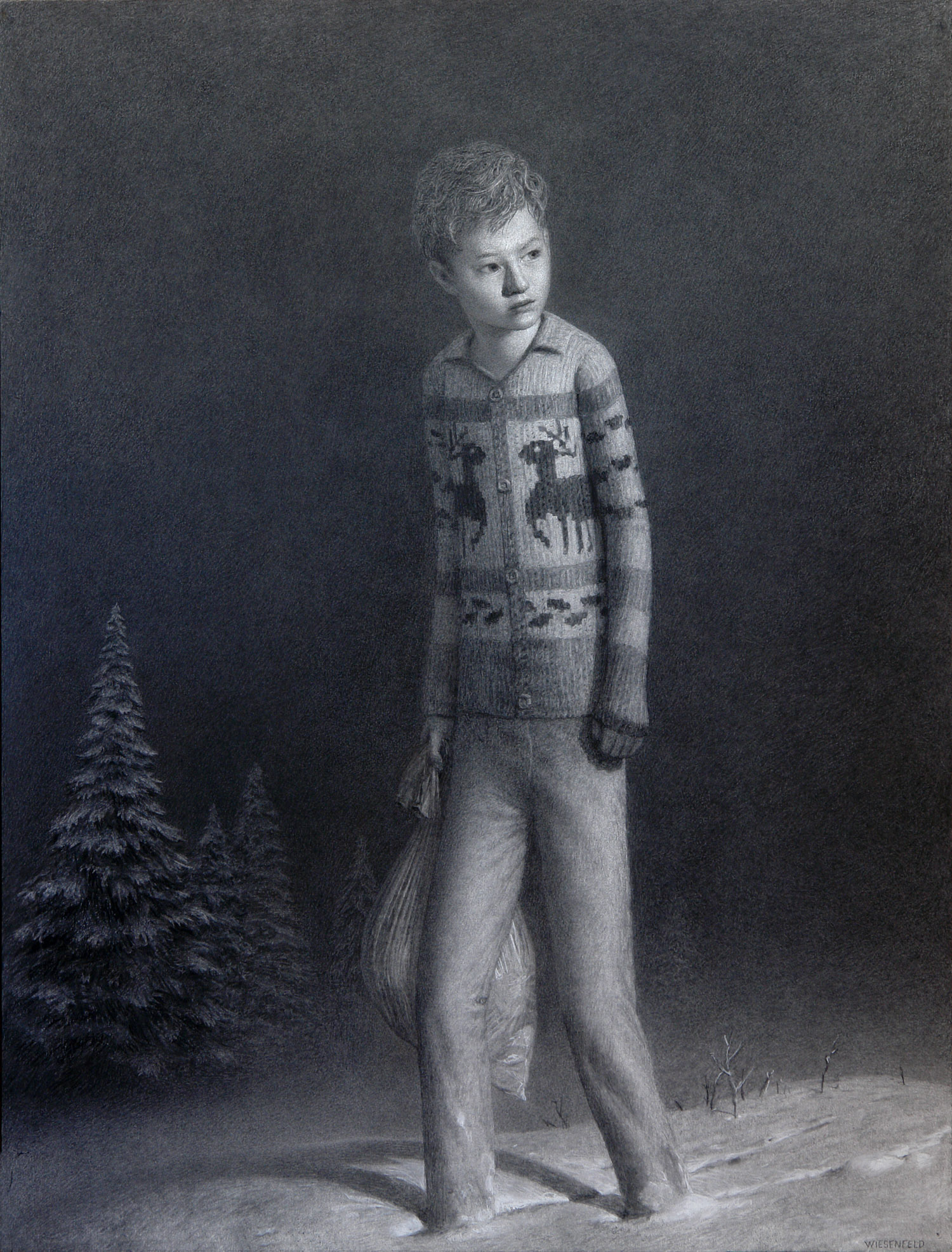 William , charcoal on paper, 50 x 38 in / 127 x 97 cm, 2008