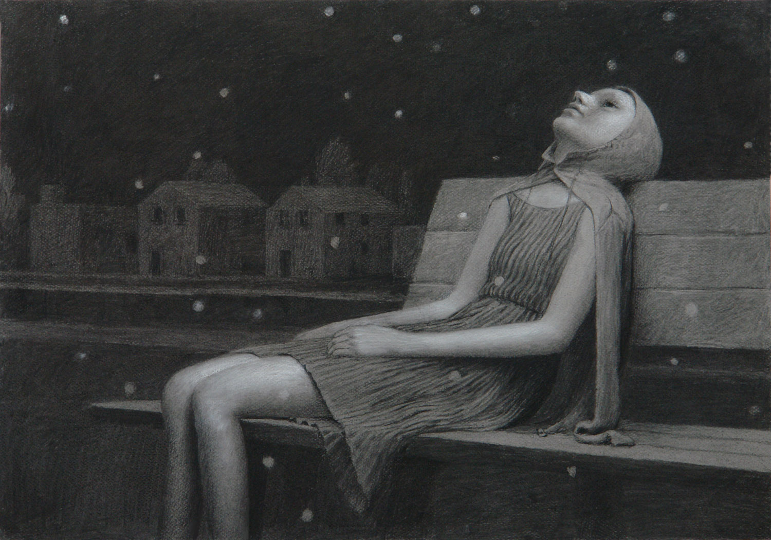 Leigh , charcoal on paper, 19 x 24.5 in, 2007