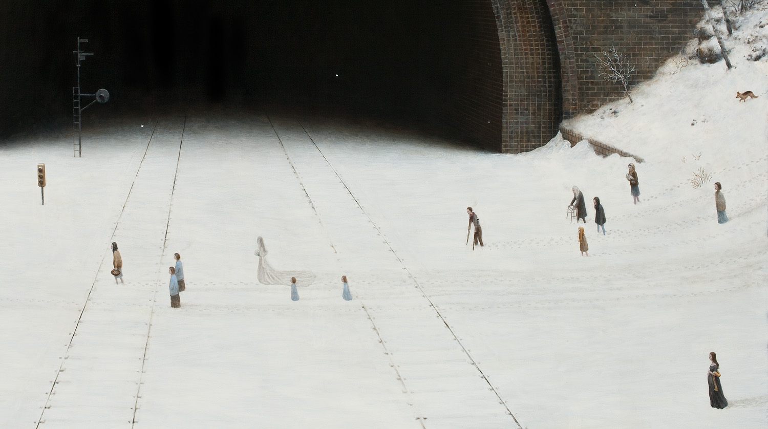 The Wedding Party (detail) , oil on canvas, 70 x 95 in / 178 x 241 cm, 2011